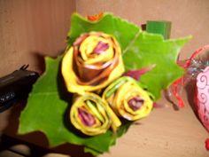 Rosenstrauß aus Herbstblätter