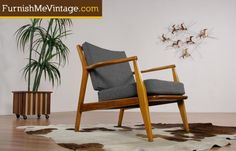 Retro Danish Style Lounge Chair Swoop Top