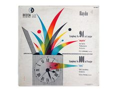 Erik Nitsche record album design 1952. Haydn by NewDocuments, $48.00