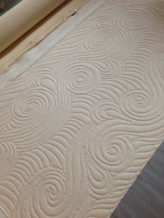 Swirl waves fill FMQ: Quilting is my Therapy