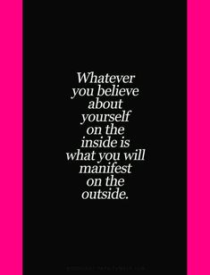 1505 - MOTIVATIONAL QUOTE | WHATEVER YOU BELIEVE... YOU WILL MANIFEST