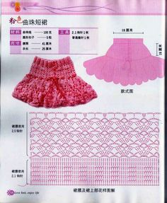 Graphics and Crochet: skirt for girls
