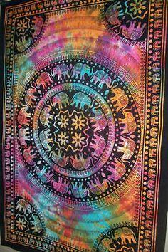 Twin-Elephant-Mandala-Tapestry-Wall-Hanging-Hippie-Blanket-Bedspread-Gypsy-Throw