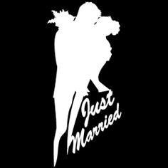 Just Married Bride Groom White Wedding Silhoutte Vinyl Decal Sticker Vinyl Art, Vinyl Decals, Just Married, Modern Decor, Bride Groom, Silhouette, Stickers, Wedding, Ebay