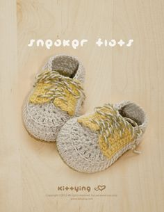 Crochet Pattern Sneaker Flats Baby Booties Preemie by meinuxing Crochet Baby Shoes, Crochet Baby Booties, Crochet Slippers, Hand Crochet, Knit Crochet, Baby Shoes Pattern, Shoe Pattern, Preemie Socks, Handgemachtes Baby