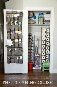 cleaning closet Small closets present big challenges. But there are a bevy of brilliant organizing solutions you can employ to make even the most diminutive closet a storage workhorse. Check out the genius ideas we found in these 15 creative closets. Organizing Hacks, Home Organization Hacks, Organizing Your Home, Cleaning Hacks, Deep Cleaning, Organizing Solutions, Diy Hacks, Spring Cleaning, Organize Cleaning Supplies
