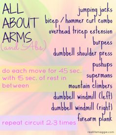 All About Arms & Abs Circuit