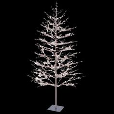 GE 7 ft. White Winterberry Branch Tree with LED Lights | Christmas ...