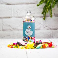 Personalised Retro Christmas Sweet Victorian Jar - Snowman:: Personalised with any name and any message - Fast UK Delivery. Merry Christmas Message, Best Christmas Presents, Christmas Messages, Personalised Sweets, Personalized Labels, Personalized Christmas Gifts, Secret Santa Presents, Retro Sweets