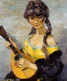 """Gypsy with mandoline"" by Marcel Dreyfus"