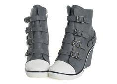Wedgie sneaker boots