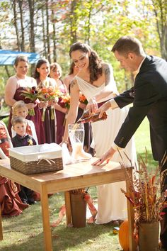 Unique wedding unity ceremony idea - Beer Pouring Ceremony (poor one ...