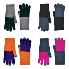 Colorblock touchscreen gloves | Cool tech gifts for men and women under $25