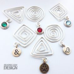 Geometric Spiral Wire Bookmarks Tutorial ~ The Beading Gem's Journal