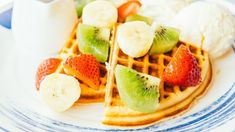 Check out this recipe! Waffle Machine, Fruit Parfait, Breakfast Waffles, Breakfast Options, Recipe Ratings, Fruit In Season, Fruit Recipes, Granola, Blueberry
