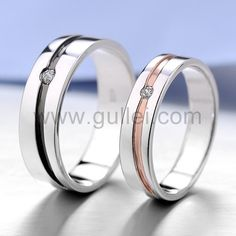 Matching Engraved Promise Ring Bands for Him and Her
