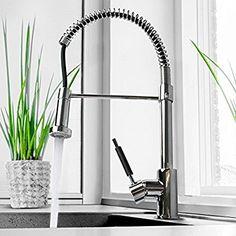 Aquamarin Küchenarmatur Spültischarmatur Einhandmischer Geschirrbrause Federbrause ausziehbar frei schwenkbar