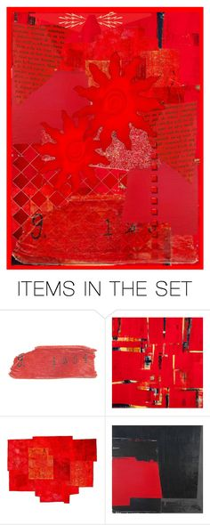"""""""Riveting Red"""" by boobetty ❤ liked on Polyvore featuring art"""
