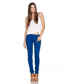 Fifty-five Color Skinny Joe's Jeans in blueberry