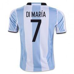 Argentina 2016 Di Maria 7 Hemmatröja Kortärmad   #Billiga  #fotbollströjor