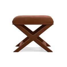 X-Base Stool, Roughed Out Suede, Solid, Saddle