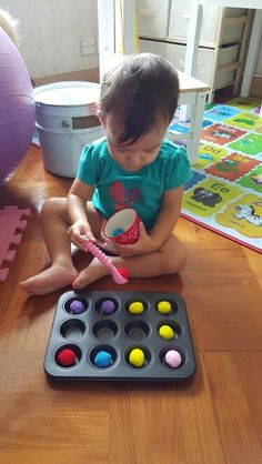 Sunday Homeschooling. Roly play make a muffin