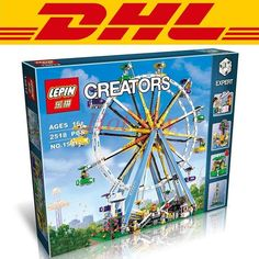 64.99$  Watch here - http://aliuv7.worldwells.pw/go.php?t=32712785736 - 2518pcs City Street Lepin 15012 Creator Ferris Wheel Model Building Kits Minifigure Blocks Toy Compatible 10247 boy gifts 64.99$