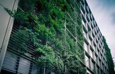 Prédio em Tóquio abriga escritórios e fazenda urbana
