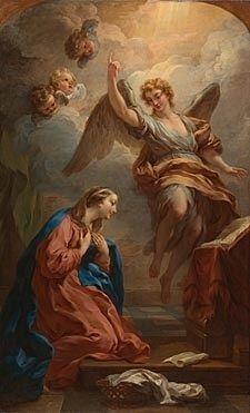"""""""O anjo disse-lhe: Não temas, Maria, pois encontraste graça diante de Deus. Eis que conceberás e darás à luz um filho, e lhe porás o nome de Jesus. Ele será grande  e será chamado Filho do Altíssimo, e o Senhor Deus lhe dará o trono de seu pai Davi ; e reinará eternamente na casa de Jacó"""".  (Lc  1, 30-32)"""