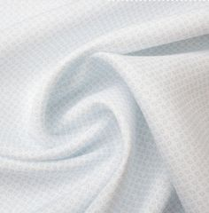 A premium quality white pure linen with baby blue geometric print. This hard wearing, yet breathable luxury woven fabric is ideal for practical tailoring, such as shirts. New in and available in a variety of colours and patterns. Shirting Fabric, Woven Fabric, Geo, Fabrics, Colours, Pure Products, Luxury, Printed, Pattern