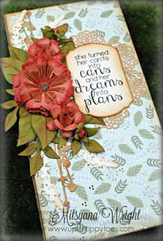 Up On Tippy Toes: Journal w/ Kraft Cardstock Flowers