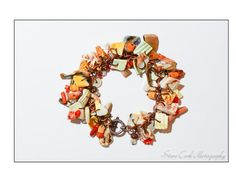 Seashell & coral charm bracelet unique by FriendlyWrenJewelry, $29.00 BLACK FRIDAY SALE 25% OFF COUPON BFS25