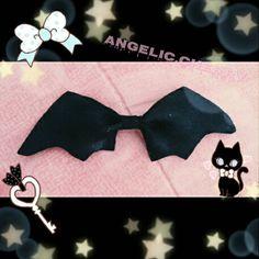 I made this bat bow today   #DIY #BatBow #LittleCherry #LittleGirl #LittleSpace #DaddyDom #DomSub #DDlg #Kawaii