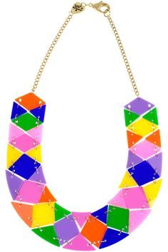 Tatty Devine Geometric Necklace - Colours are gorgeous!