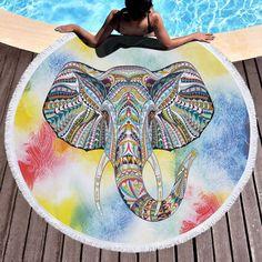 Alert Fashion Flamingo Round Beach Towel With Tassels Microfiber Bath Towels 150cm Toalla De Playa Redonda Summer Travel Mat Tapestry Home