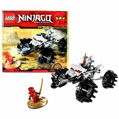 """Lego Year 2011 Ninjago """"Masters of Spinjitzu"""" Animated Series Vehicle Set # 2518 - NUCKAL'S ATV with 4 Wheel Suspension System, Missile Launcher and 1 Missile, Exhaust Flames Plus Nuckal and Kai DX Minifigures with Sword of Fire and Bone Axe (Total Pieces: 174) by LEGO. $110.24. Nuckal's ATV measures over 7"""" long, 5"""" wide and 3"""" tall. Includes: NUCKAL'S ATV with 4 Wheel Suspension System, Missile Launcher and 1 Missile, Exhaust Flames Plus Nuckal and Kai DX Minifigures with Sw..."""