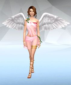 Download content : • Dress ( 3 colors ) • Wings ( rings section ) • Gold Accessories ( rings section ) credit : MoogleOutfitters DOWNLOAD:Angel Dress