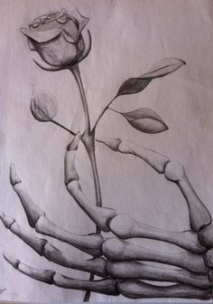 Image result for grim reaper hand holding rose