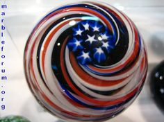 Red, White, and Blue. David Salazar, flag, marble