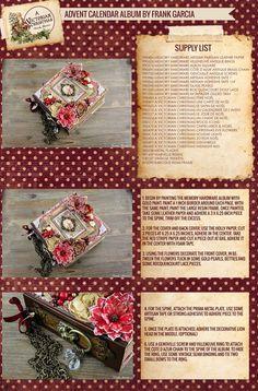 Advent Calendar Album Step-by-Step by Frank Garcia Part 1