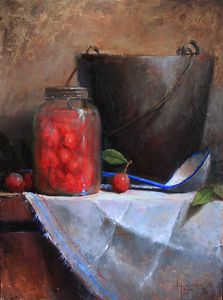 Wild Plums by Kathy Tate Oil ~ 16 x 12
