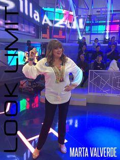 LOOK LIMIT & MARTA VALVERDE!! la actriz Marta Valverde en el conocido concurso Pasapalabra con los complementos Look Limit ¡¡Fantastica!!