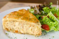 210 Diner (almoço) Torta de frango com salada