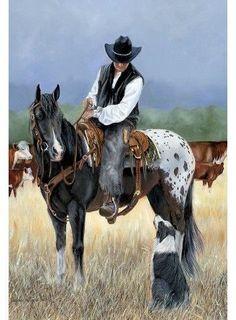 John N. Hansen Educa Cowboy & Friend Puzzle 1000pc