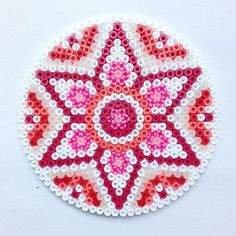 Mandala hama perler beads by coriander_dk ideas bügelperlen, Hama Beads Design, Diy Perler Beads, Perler Bead Art, Pearler Beads, Fuse Beads, Hama Beads Coasters, Pearler Bead Patterns, Perler Patterns, Diy Y Manualidades