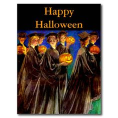 Halloween Witch College Graduates Postcards.  Check out their link.