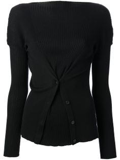 Jean Paul Gaultier Gathered Placket Detail Sweater