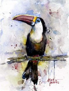 Watercolor Bird, Watercolor Animals, Watercolor Paintings, Wildlife Art, Bird Art, Watercolors, Butterflies, Birds, Drawings