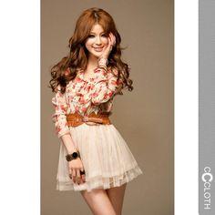 floaty belted mini dress