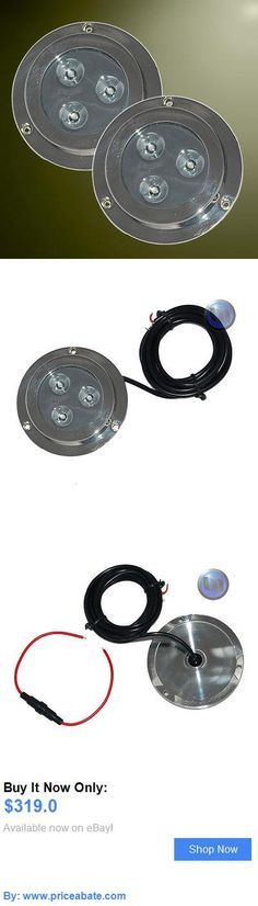 boat parts: 2 X 6W New Underwater Led Marine Boat Light White 12V BUY IT NOW ONLY: $319.0 #priceabateboatparts OR #priceabate